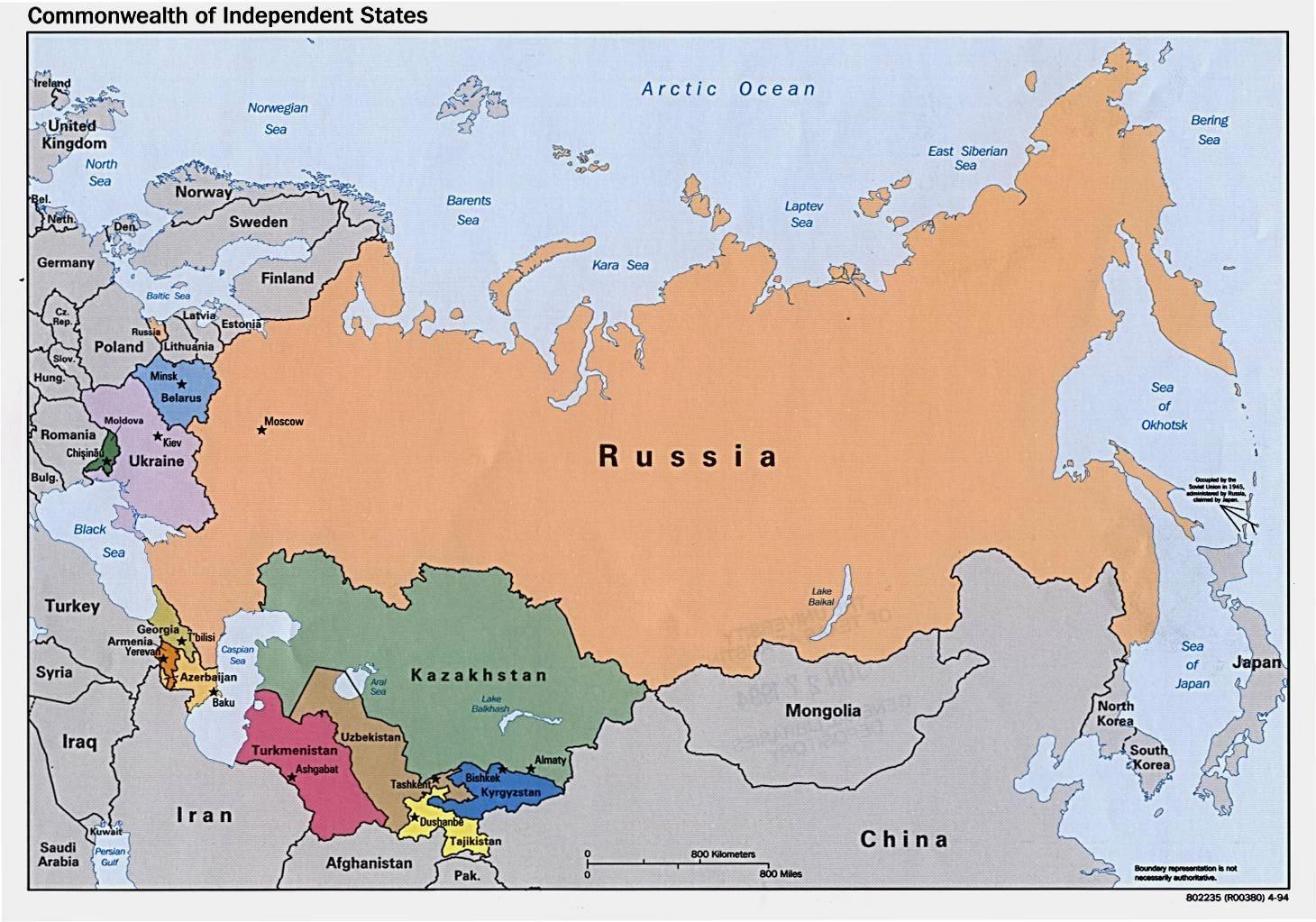Rusija I Mongolija Karta Rusije I Mongolije Istocna Azija Azija