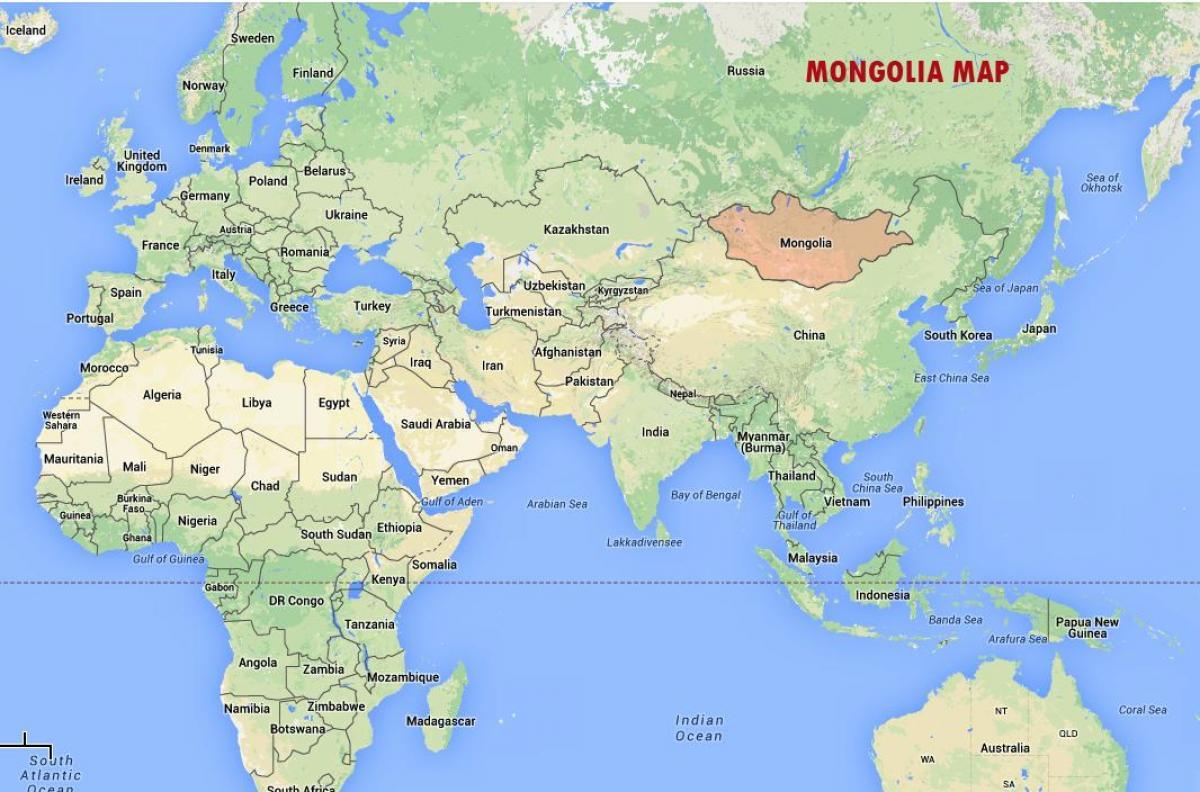 Mongolija Na Karti Svijeta Karta Svijeta Pokazuje Mongolija